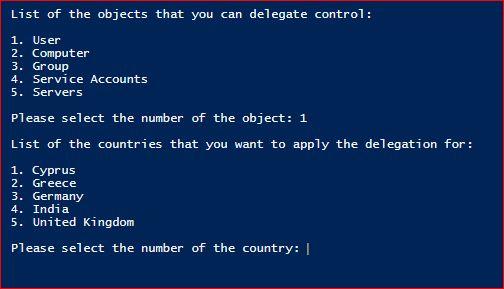 Set-ADDelegation - Options