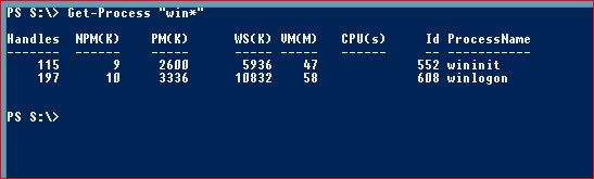 Useful PowerShell commands - get-process-win