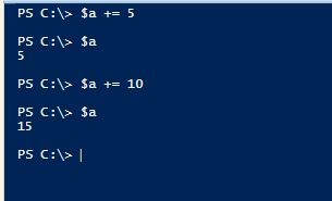 PowerShell Assignment Operators - Addition - Integers