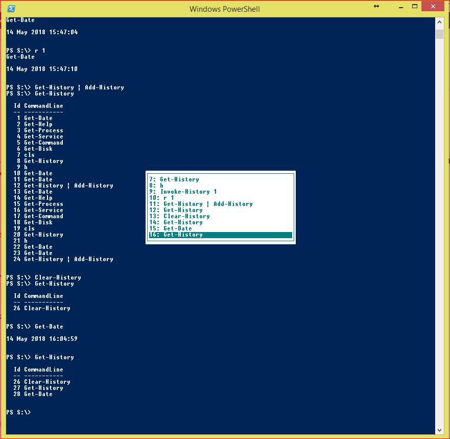PowerShell Command History