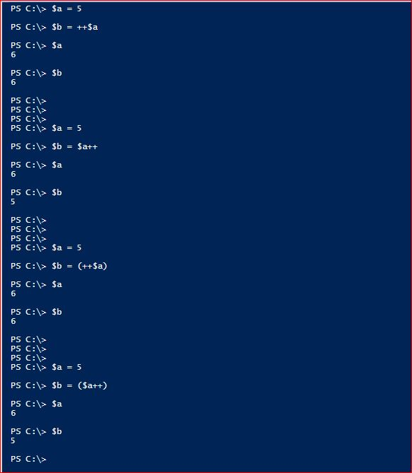 PowerShell Assignment Operator - Increment - 2
