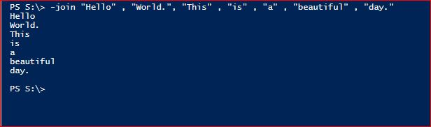 PowerShell Join Operator - Default