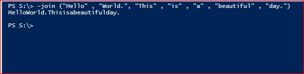 PowerShell Join Operator - Parentheses