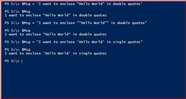 PowerShell Quotes
