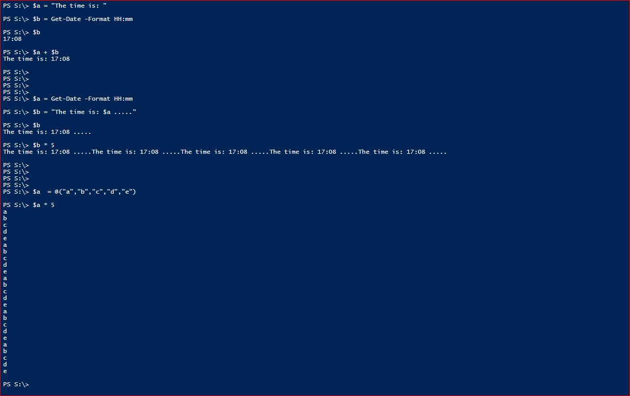 PowerShell Arithmetic Operators