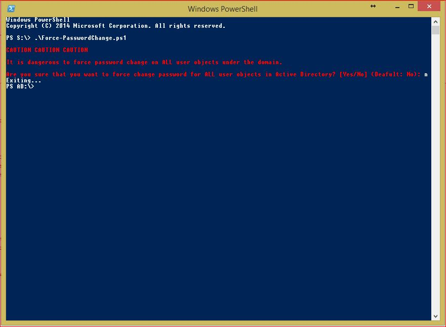 PowerShell Force Password Change Multiple Users - Domain