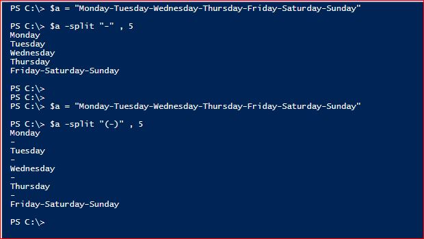 PowerShell Split Operator - Max Substrings
