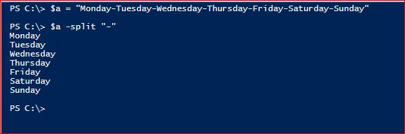 PowerShell Split Operator - With Delimiter