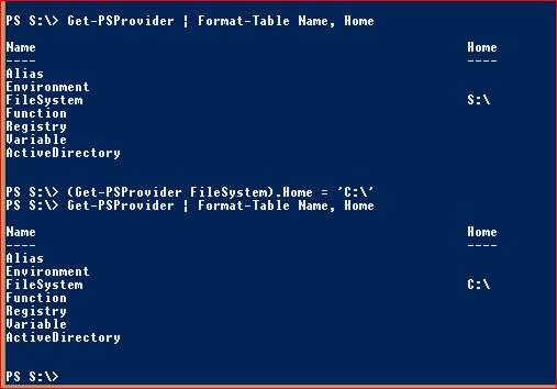PowerShell Providers - Change Home Value