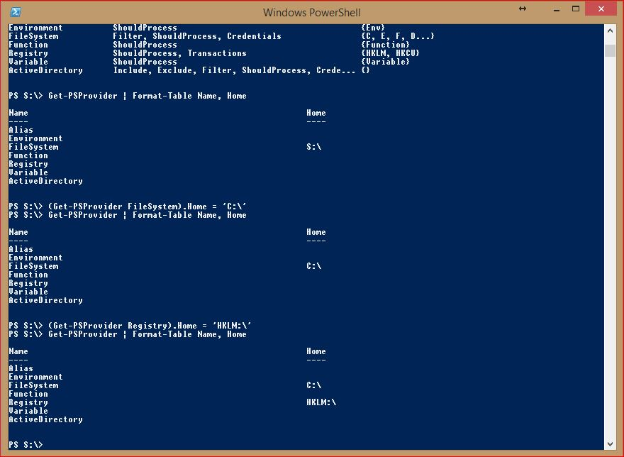 PowerShell Providers - Change Home Value - Registry