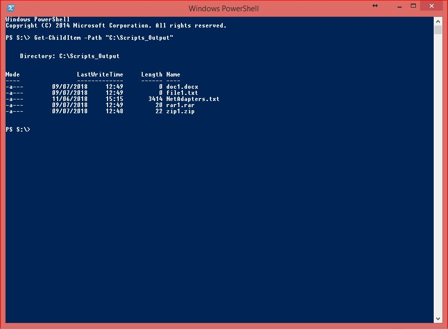 PowerShell Core Commands - Get-ChildItem for Files
