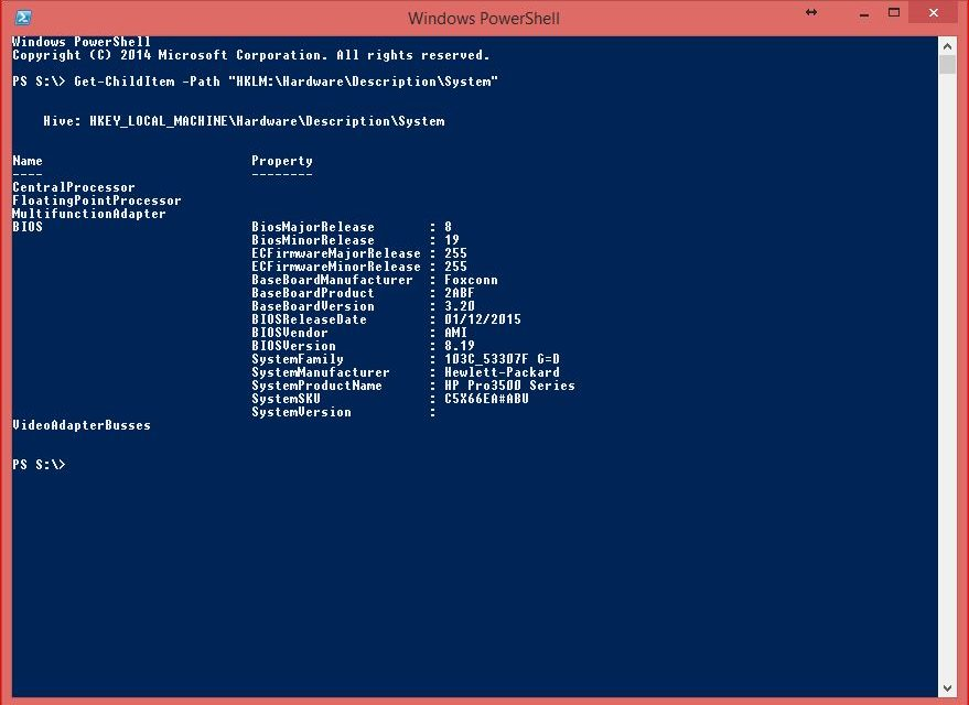PowerShell Core Commands - Get-ChildItem for Registry