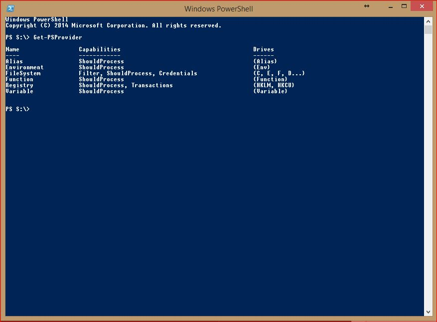 PowerShell Providers - Get-PSProvider