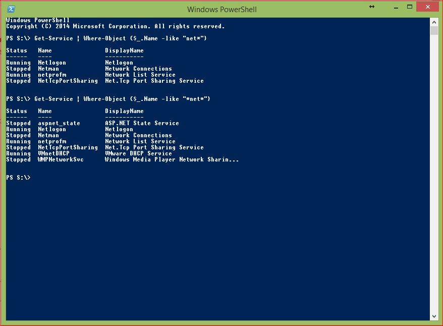 PowerShell Wildcards - Example 2 - Asterisk
