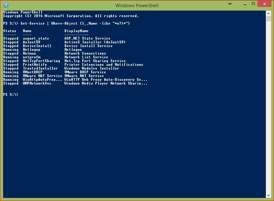 PowerShell Wildcards - Example 6 - Multiple