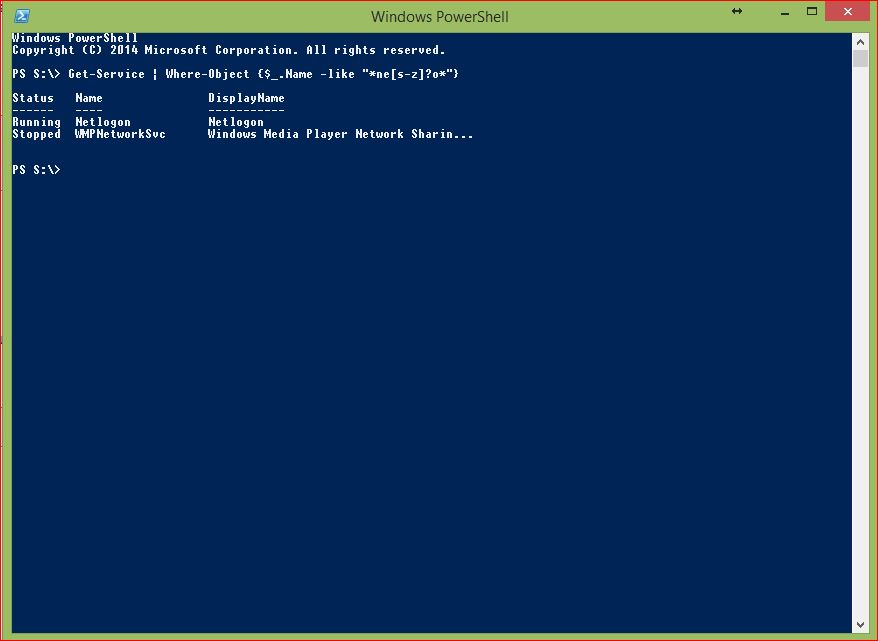 PowerShell Wildcards - Example 8 - Multiple