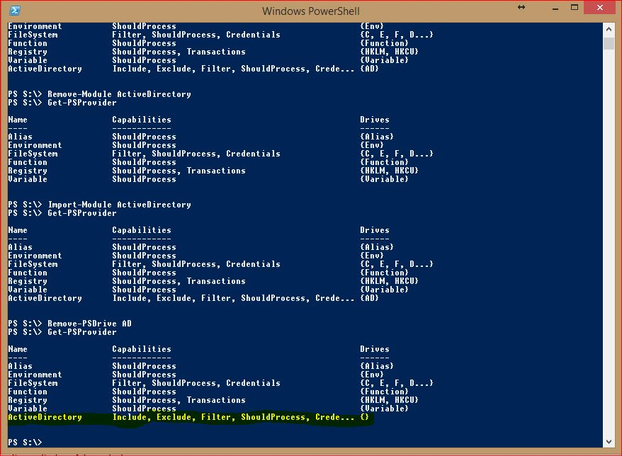 PowerShell Providers