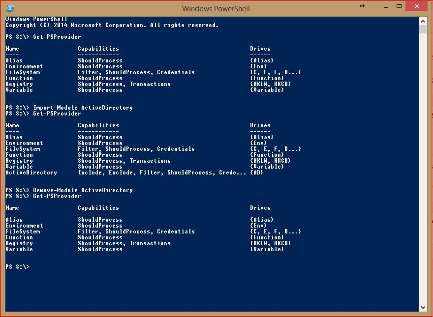 PowerShell Providers - Remove Provider Module