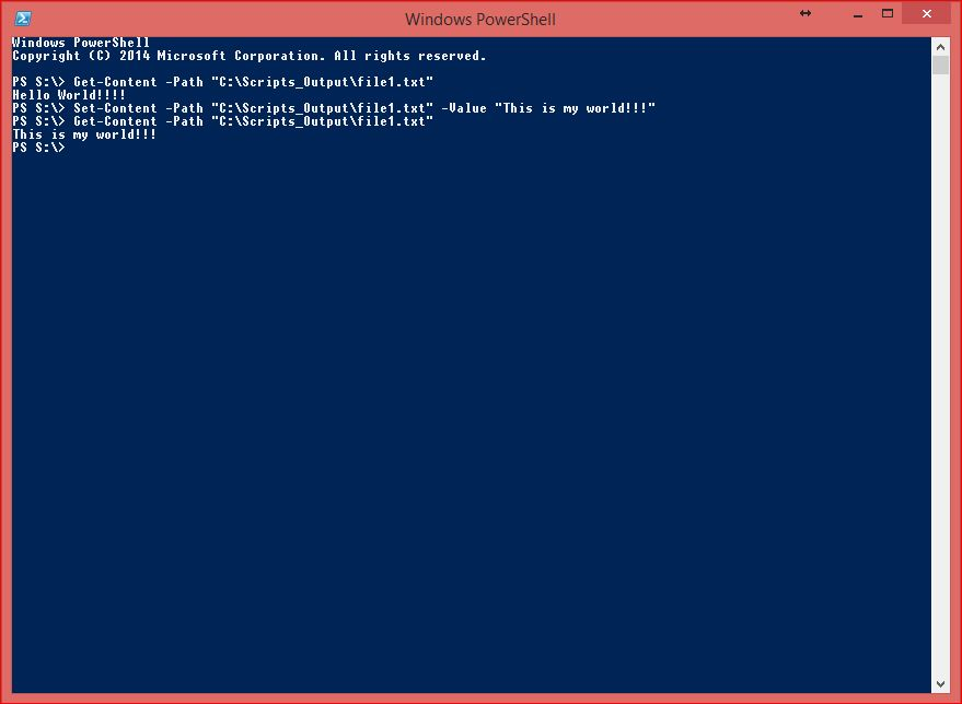 PowerShell Core Commands - Set-Content to File