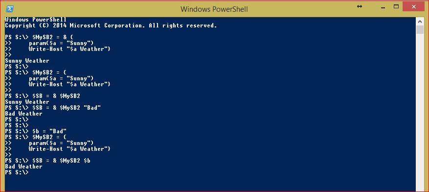 PowerShell Script Blocks - Example 5