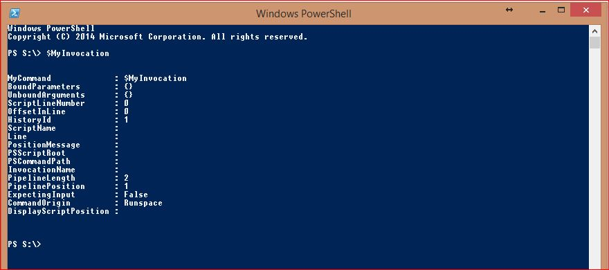 PowerShell Automatic Variables - Example 16