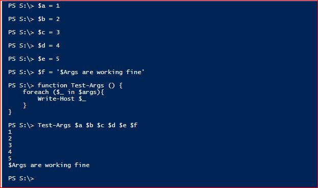 PowerShell Automatic Variables - Example 5