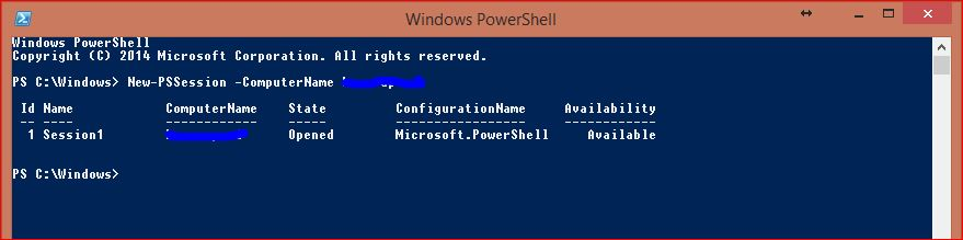 Windows PowerShell Sessions - PSSessions - 1