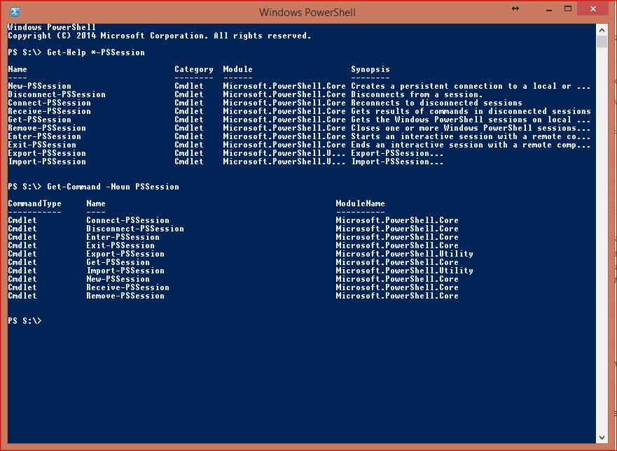 Windows PowerShell Sessions - PSSessions - 10