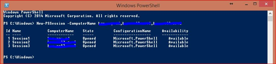 Windows PowerShell Sessions - PSSessions - 3