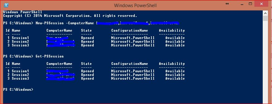 Windows PowerShell Sessions - PSSessions - 4