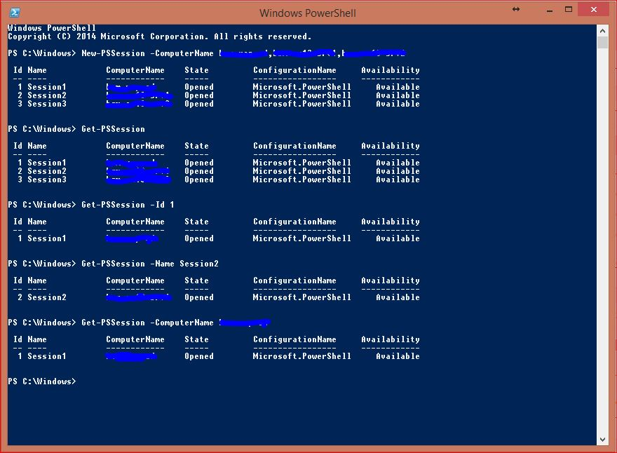 Windows PowerShell Sessions - PSSessions - 5