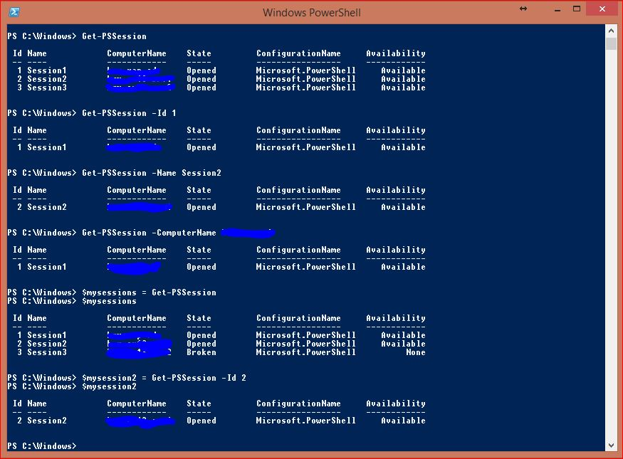 Windows PowerShell Sessions - PSSessions - 6