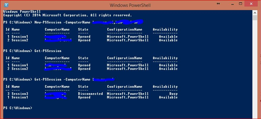 Windows PowerShell Sessions - PSSessions - 7
