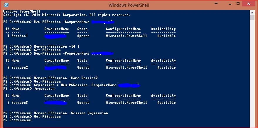 Windows PowerShell Sessions - PSSessions - 8
