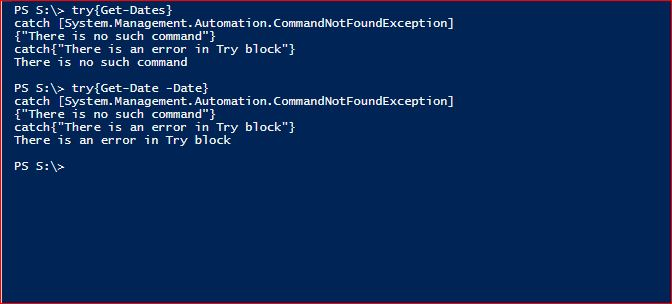 PowerShell Try Catch Finally - Example 2