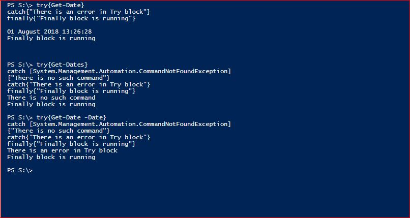 PowerShell Try Catch Finally - Example 3