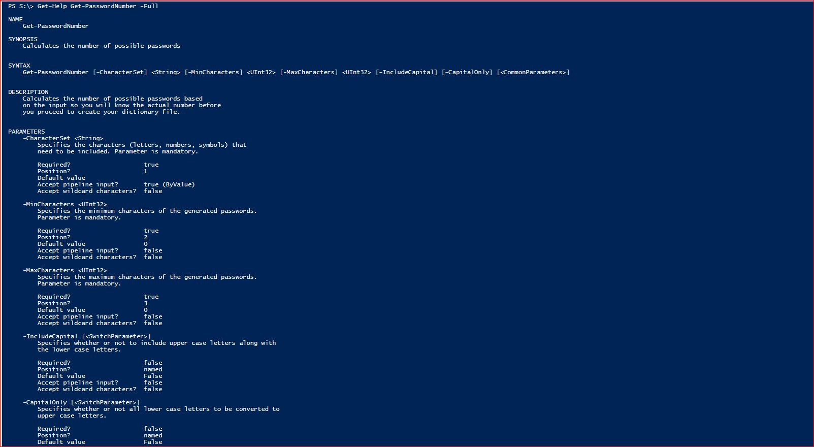 PowerShell Comments Based Help - 2