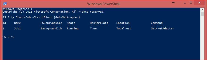 PowerShell Jobs - Example 1