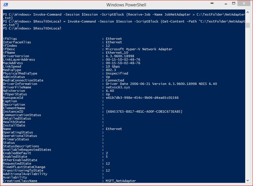 PowerShell Jobs - Example 13-1