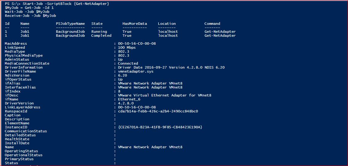 PowerShell Jobs - Example 7-1