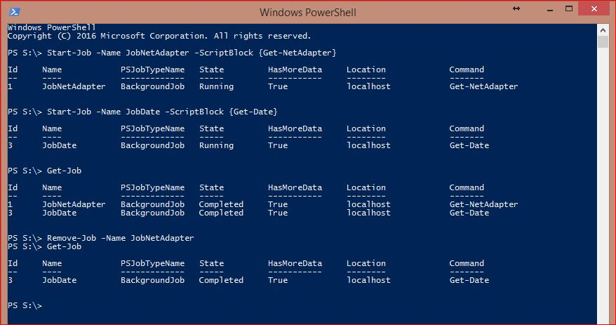 PowerShell Jobs