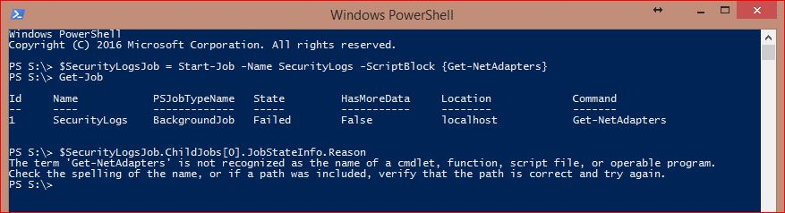 PowerShell Jobs - Example 9