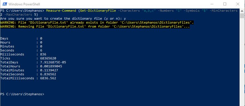 PowerShell Module DictionaryFile - Test 1