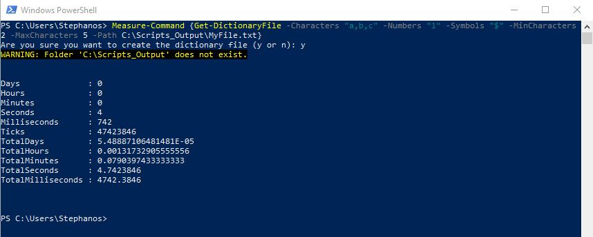 PowerShell Module DictionaryFile - Test 2