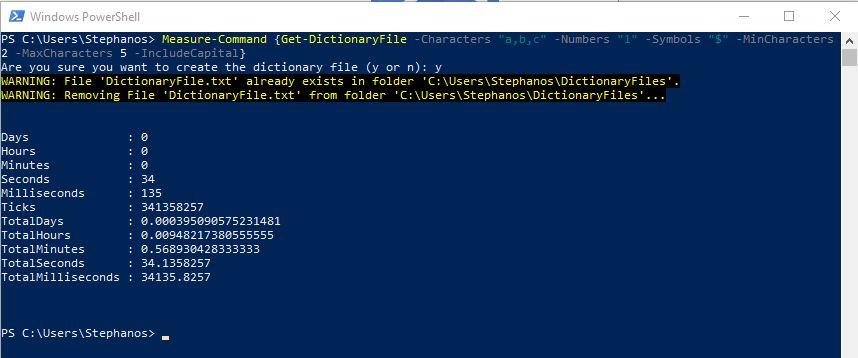PowerShell Module DictionaryFile - Test 3