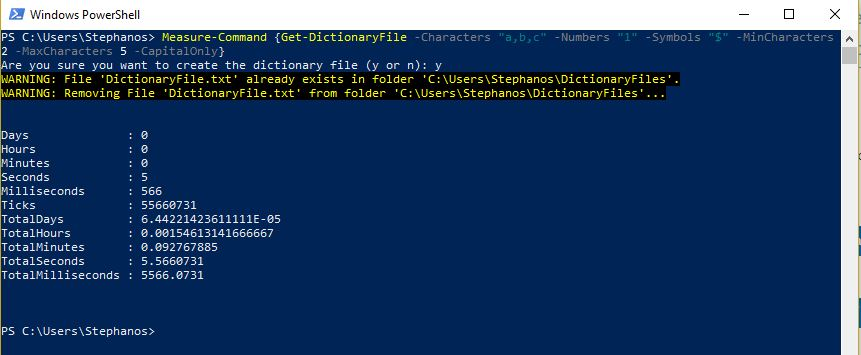 PowerShell Module DictionaryFile - Test 4