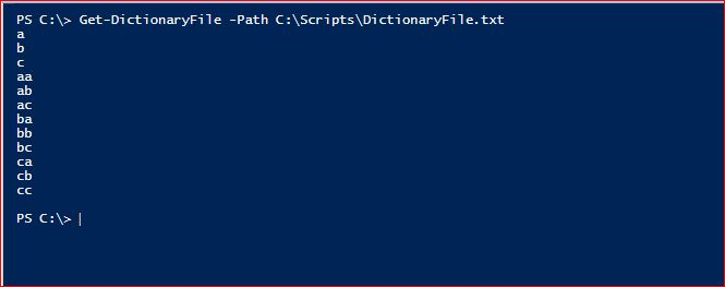 PowerShell Module DictionaryFile v2.0 - Get-DictionaryFile