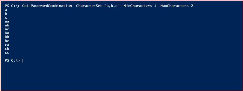 PowerShell Module DictionaryFile v2.0 - Get-PasswordCombination