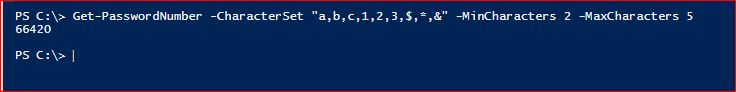 PowerShell Module DictionaryFile v2.0 - Get-PasswordNumber