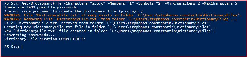 PowerShell Module DictionaryFile - Get-DictionaryFile - Example 1